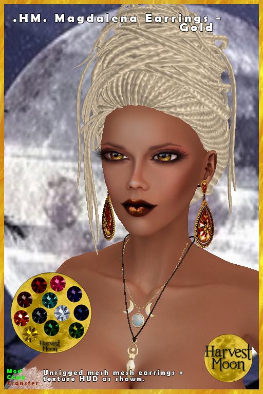 Harvest Moon – Magdalena Earrings – Gold