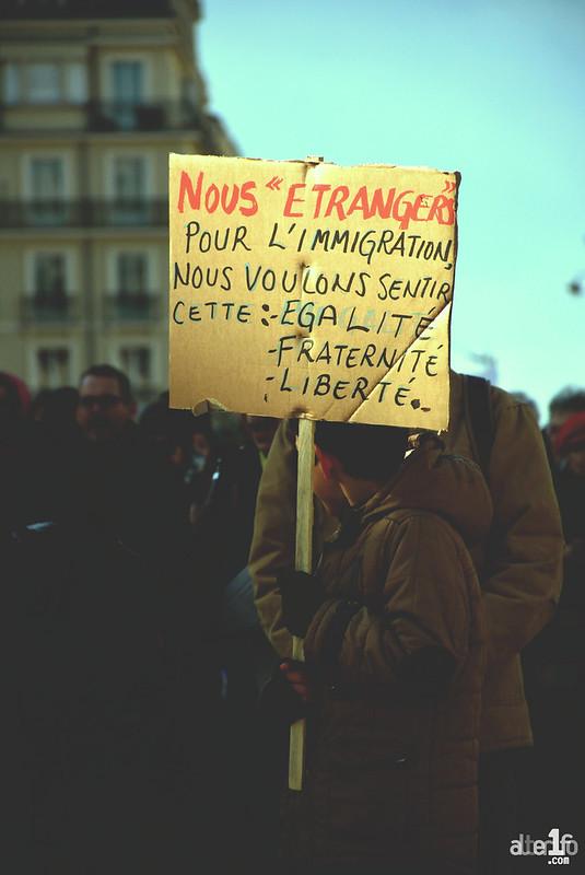 [02 Février 2019] – Un jour, une photo : Manifestation réussie contre la loi asile-immigration !