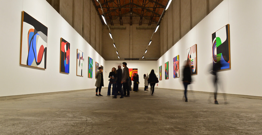Cornell in Rome students walk through the Fondazione Burri while viewing the art.  photo / Alp Demiroglu (B.Arch. '21)