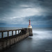 Amble Pier Lighthouse by He Ro.