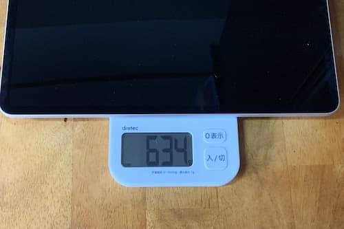 iPad Pro 12.9インチの重さ