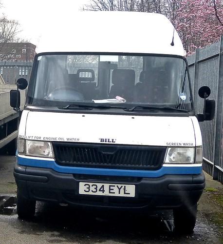 334 EYL 'East Yorkshire Motor Services' No. 9913 'Bill'. LDV Convoy / LDV on Dennis Basford's railsroadsrunways.blogspot.co.uk'