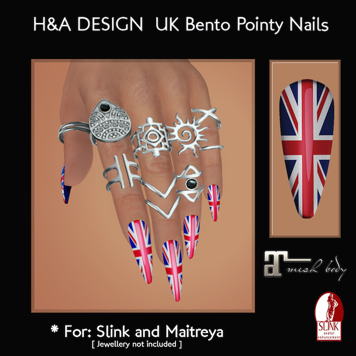 [H&A Designs] - UK Bento Pointy Nails - TeleportHub.com Live!
