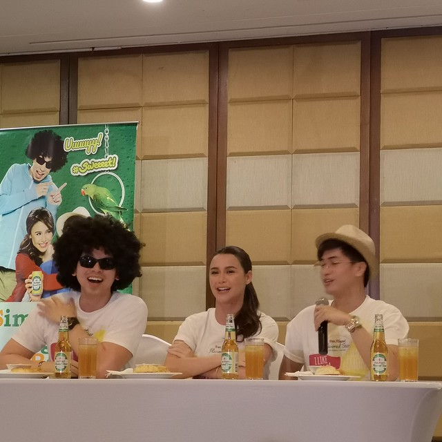 Yassi Pressman in Obrero Davao with Fro Bro Aran and Geeky Guy Kurt San Miguel Flavored Beer IMG_20181216_151432