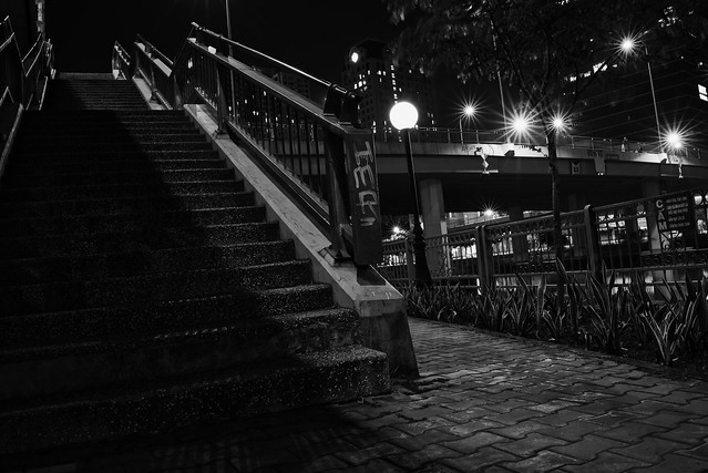 Night stairs, Sony ILCE-7M3, Sony FE 28mm F2