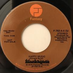 BLACKBYRDS:HAPPY MUSIC(LABEL SIDE-A)