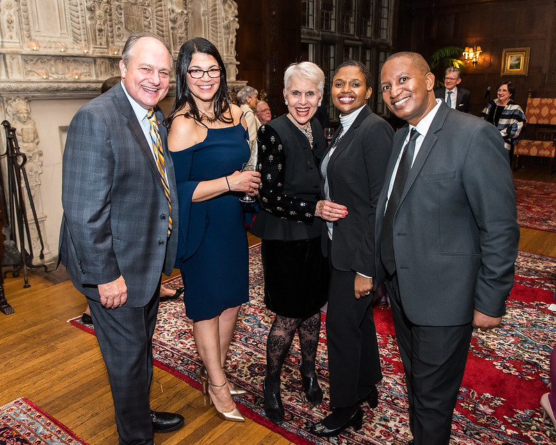 ISH-DC Board Member Bill Bonstra, Penny Karas, Jan Duplain, DCM of South Africa Yoliswa Mvebe and Mr. Mvebe
