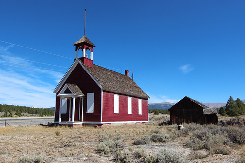 Old Malta Little Red Schoolhouse - Near Leadville, Colorado