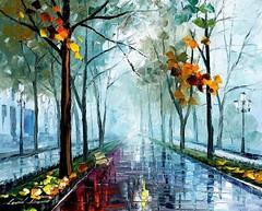 Rainy Day By Leonid Afremov, Oil Painting
