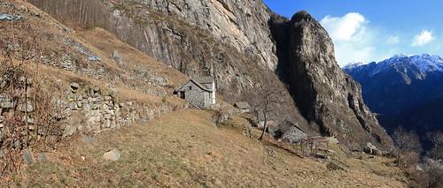 Alpe Taneda, Val Lavizzara, Valle Maggia. Canton Ticino, Svizzera,