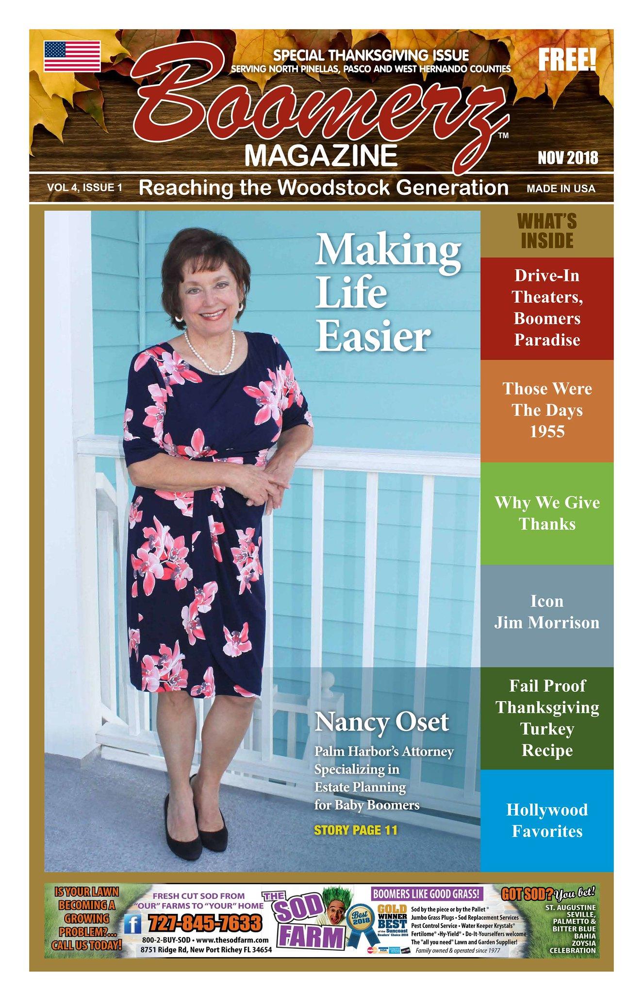 Boomerz Magazine 2018 November Cover Page