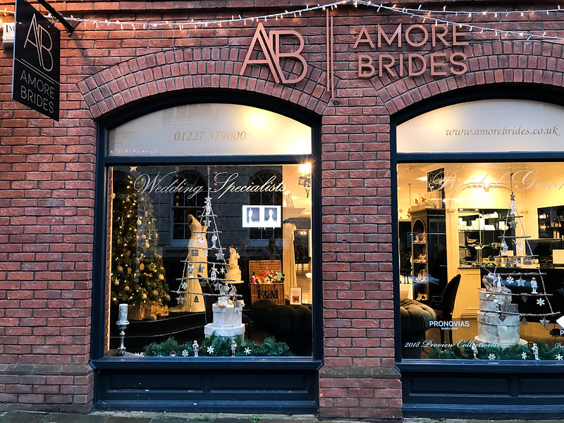 Amore Brides Christmas Windows, Canterbury