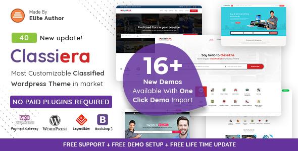 Classiera v3.0.13 – Classified Ads WordPress Theme