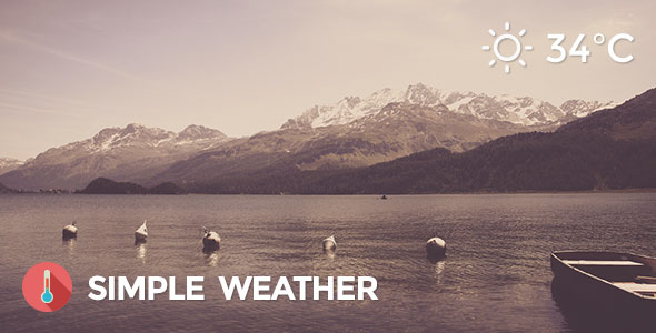 Simple Weather v4.3.2 – Weather WordPress Shortcode and Widget
