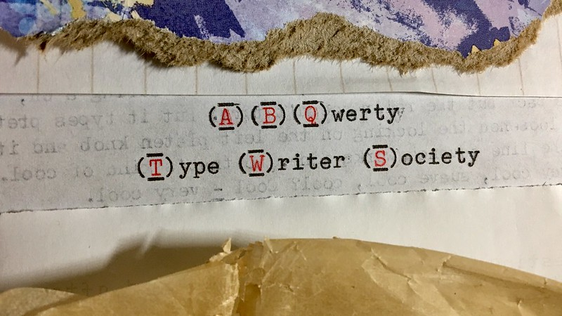ABQwerty Type Writer Society Logo