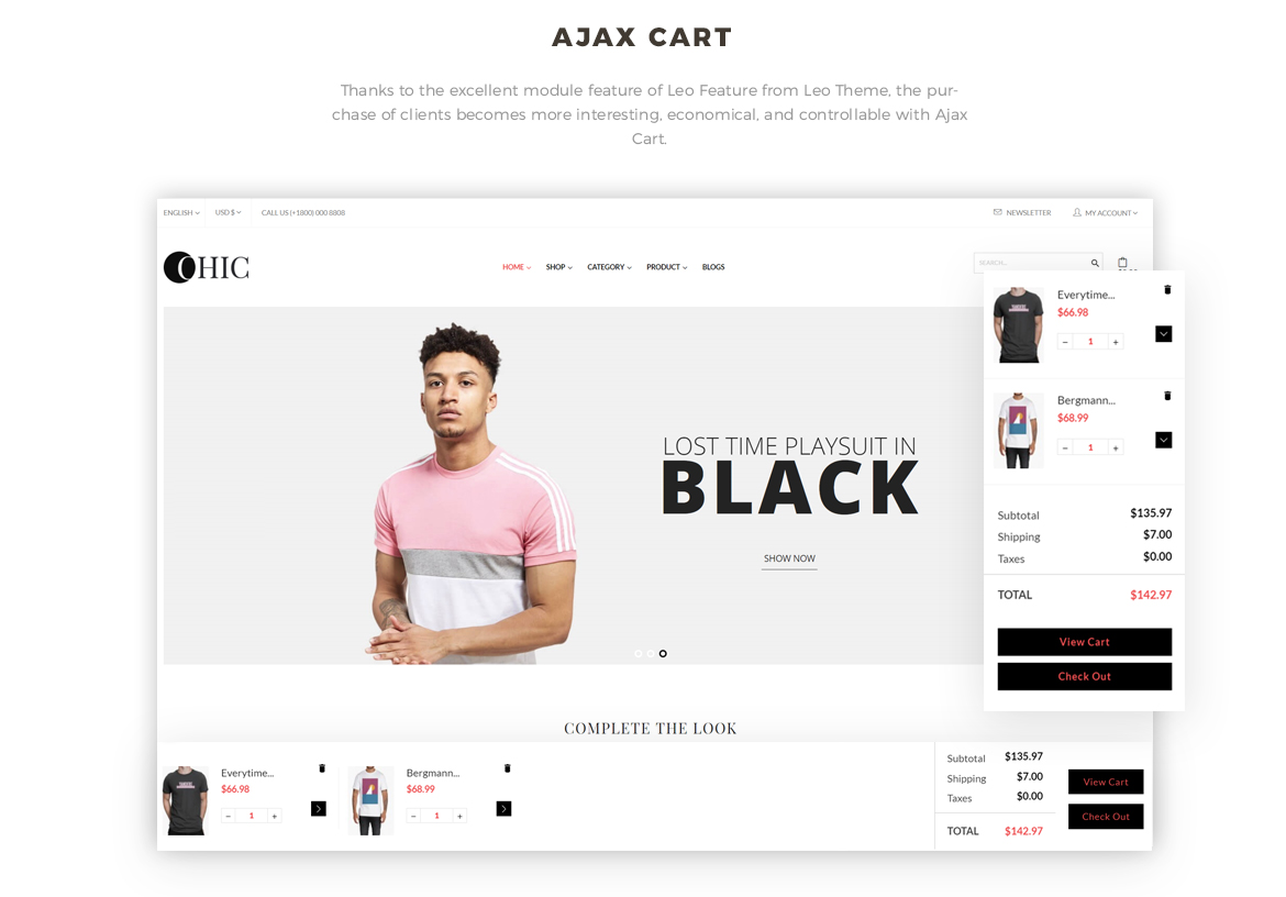 Ajax cart feature - Women Fashion and Lingerie Store