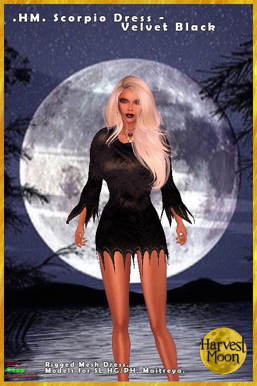 Harvest Moon – Scorpio Dress – Velvet Black