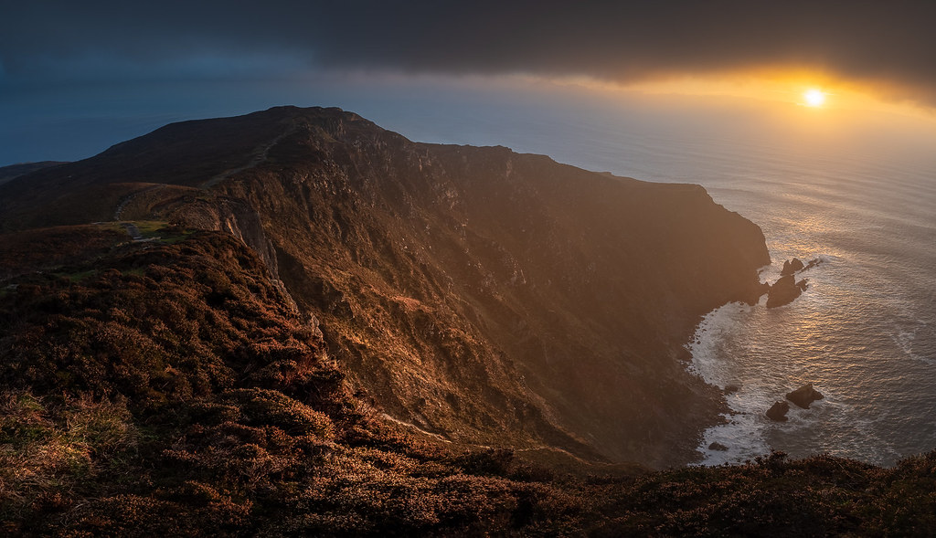 Sunset on Slieve League, Donegal, Ireland picture