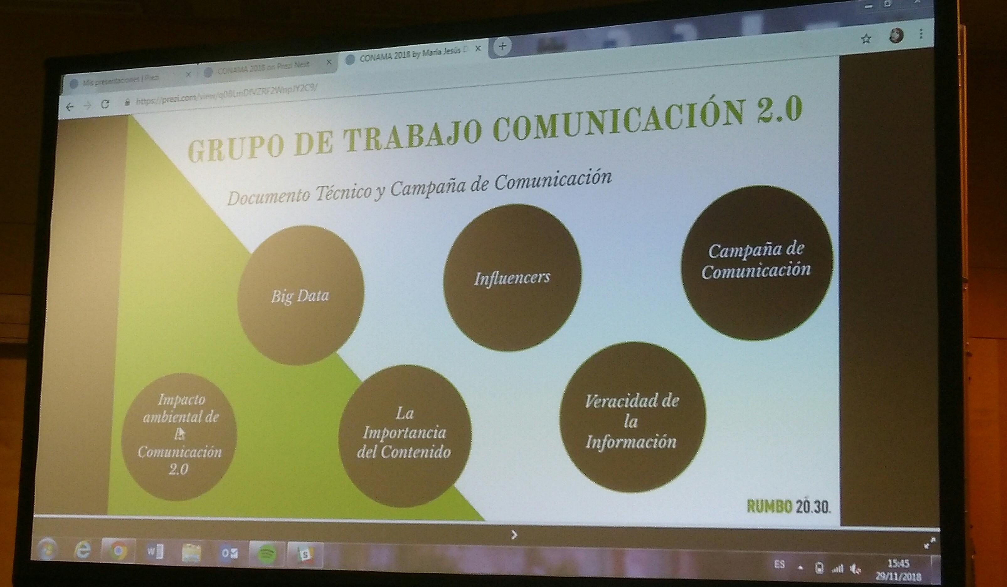 GT22: COMUNICACIÓN AMBIENTAL 2.0