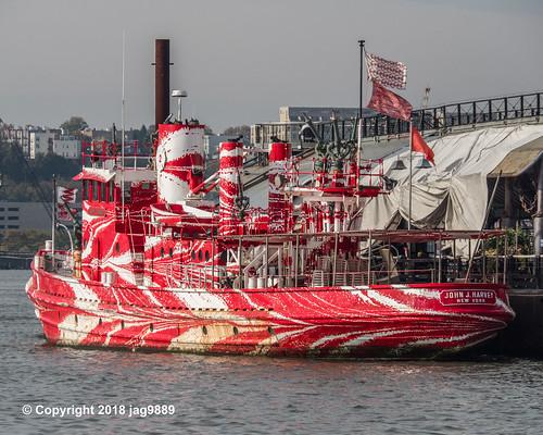Historic John J. Harvey Fire Boat on the Hudson River, Pier 66 Maritime, New York City