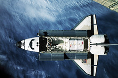 The space shuttle Atlantis taken from approximately 170 feet away by astronaut Shannon W. Lucid. Original from NASA . Digitally enhanced by rawpixel.