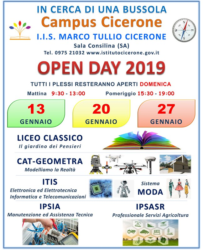 domeniche open day gennaio cicerone