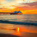 Malibu Pier Sunset Landscape Seascape Photography! High Res Fine Art California Malibu Pacific Ocean Scenery! Sony A7R2 Mirrorless Vario-Tessar T* FE 16-35mm f/4 ZA OSS Lens SEL1635Z! Scenic Red, Orange, Yellow Oceanscape Vista! High Res Carl Zeiss Glass!
