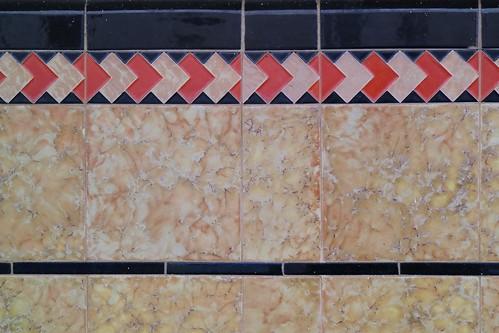 Art Deco tiles, Tuppal Hotel, Finley, NSW