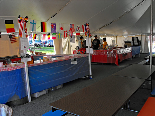 Part Of The Food Court Tent.