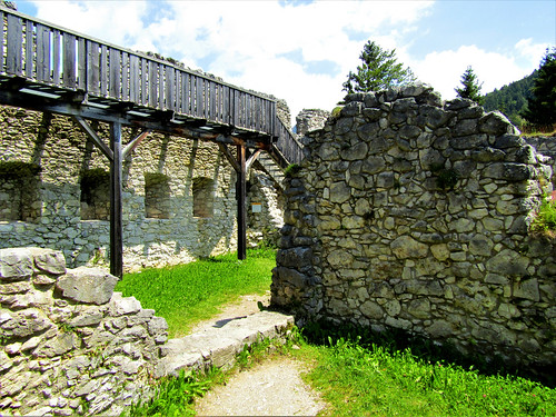 ruins of Fort Claudia in Austrian Alps
