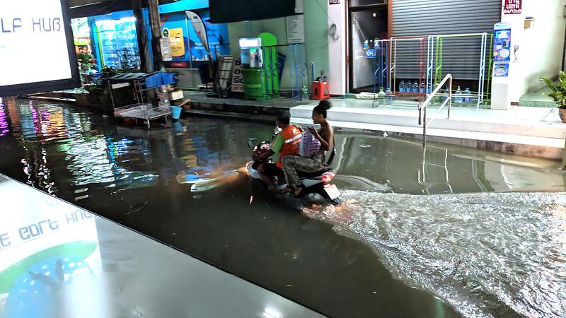 Pattaya storm traps Aussie