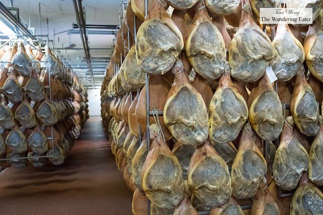 Factory tour of prosciutto crudo in Rovagnati's Parma factory location