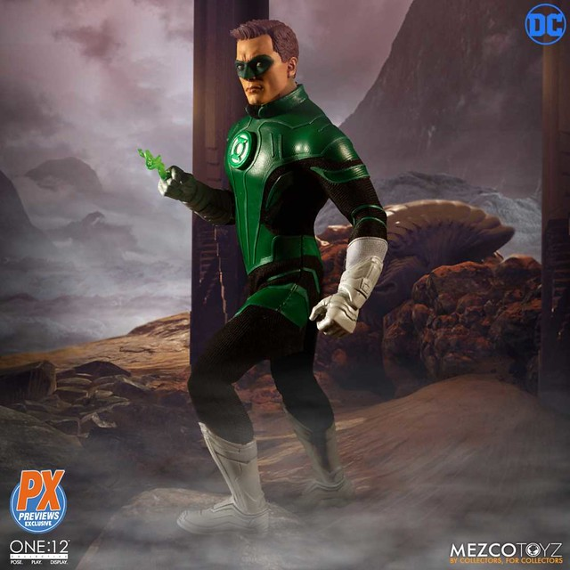 MEZCO ONE:12 COLLECTIVE 系列 DC Comics【綠光戰警 哈爾·喬丹】Green Lantern Hal Jordan 1/12 比例人偶作品【PREVIEWS 限定】
