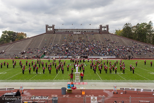 Cornell Big Red Marching Band at Brown Stadium