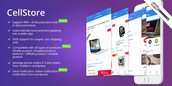 CellStore v1.0.1 – Complete WooCommerce App Ionic