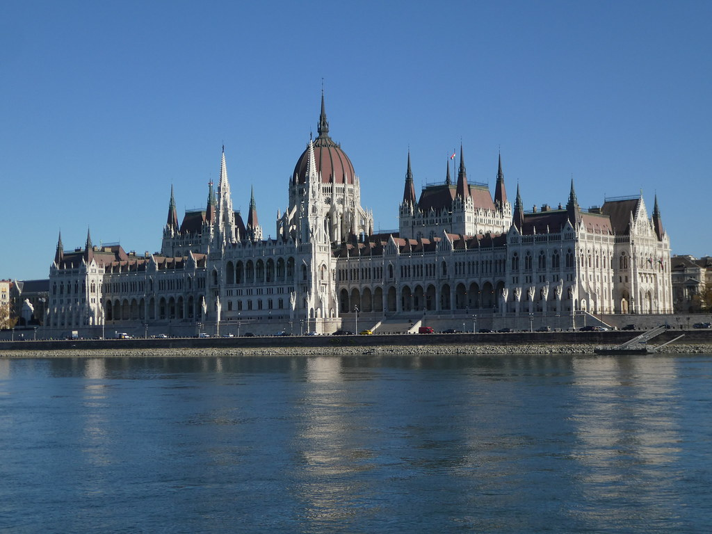 The Hungarian Parliament from the public ferry boat, Budapest