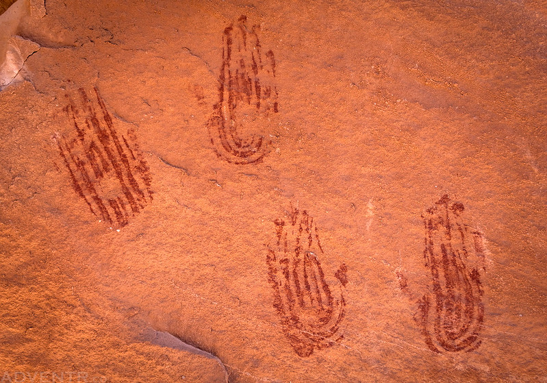 Red Handprints