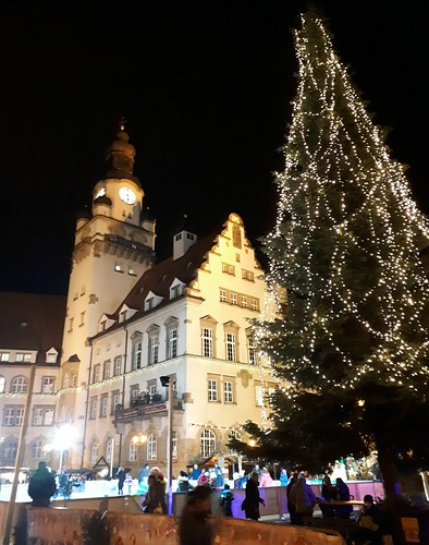 The townhall and the Christmas tree