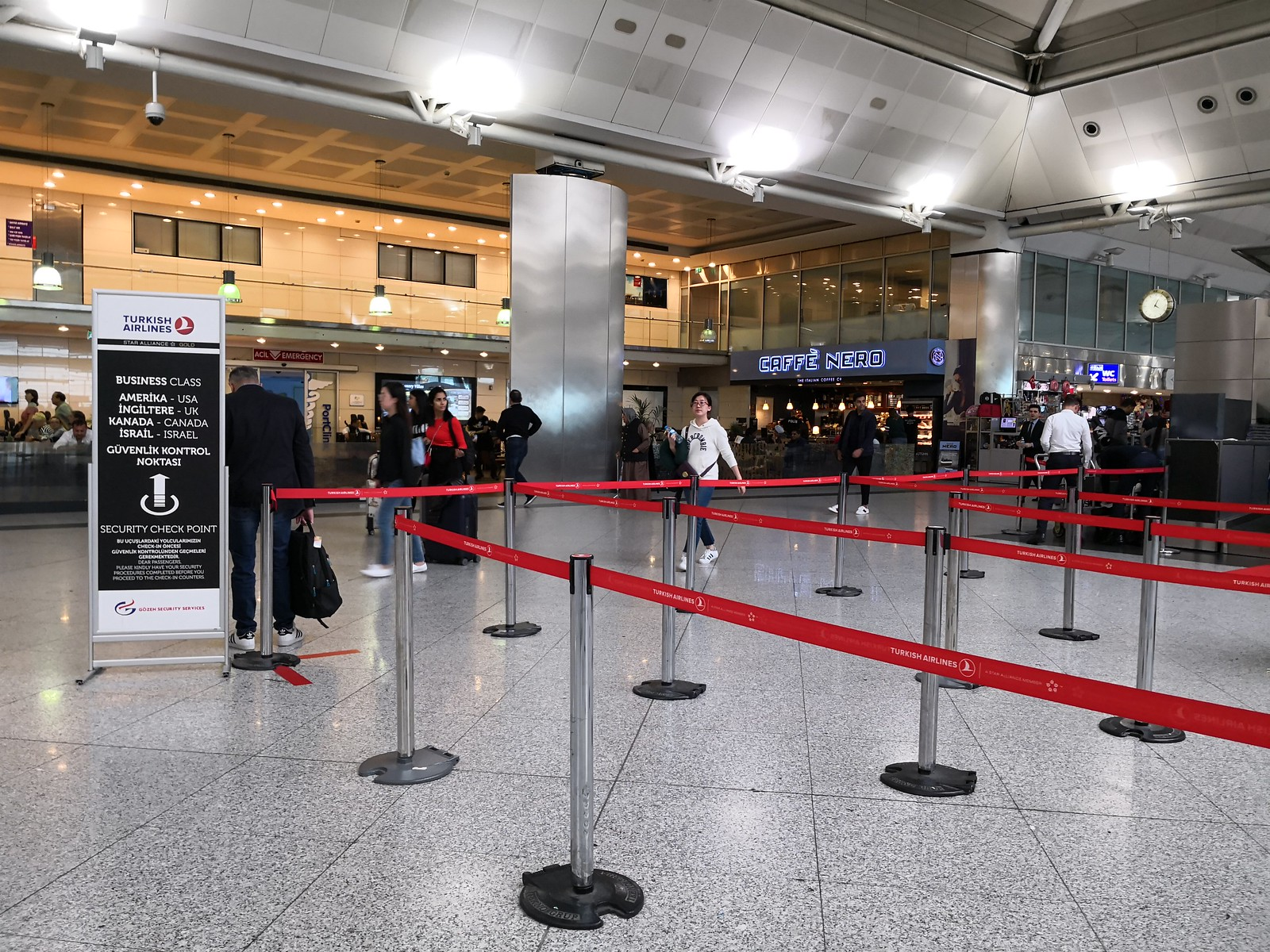 Special check-in counters for US/UK/Canada and Israel bound flights