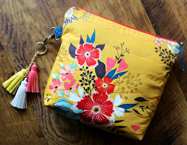 Summerdress Dreams Ray Whole Cloth Zipper Pouch Bags