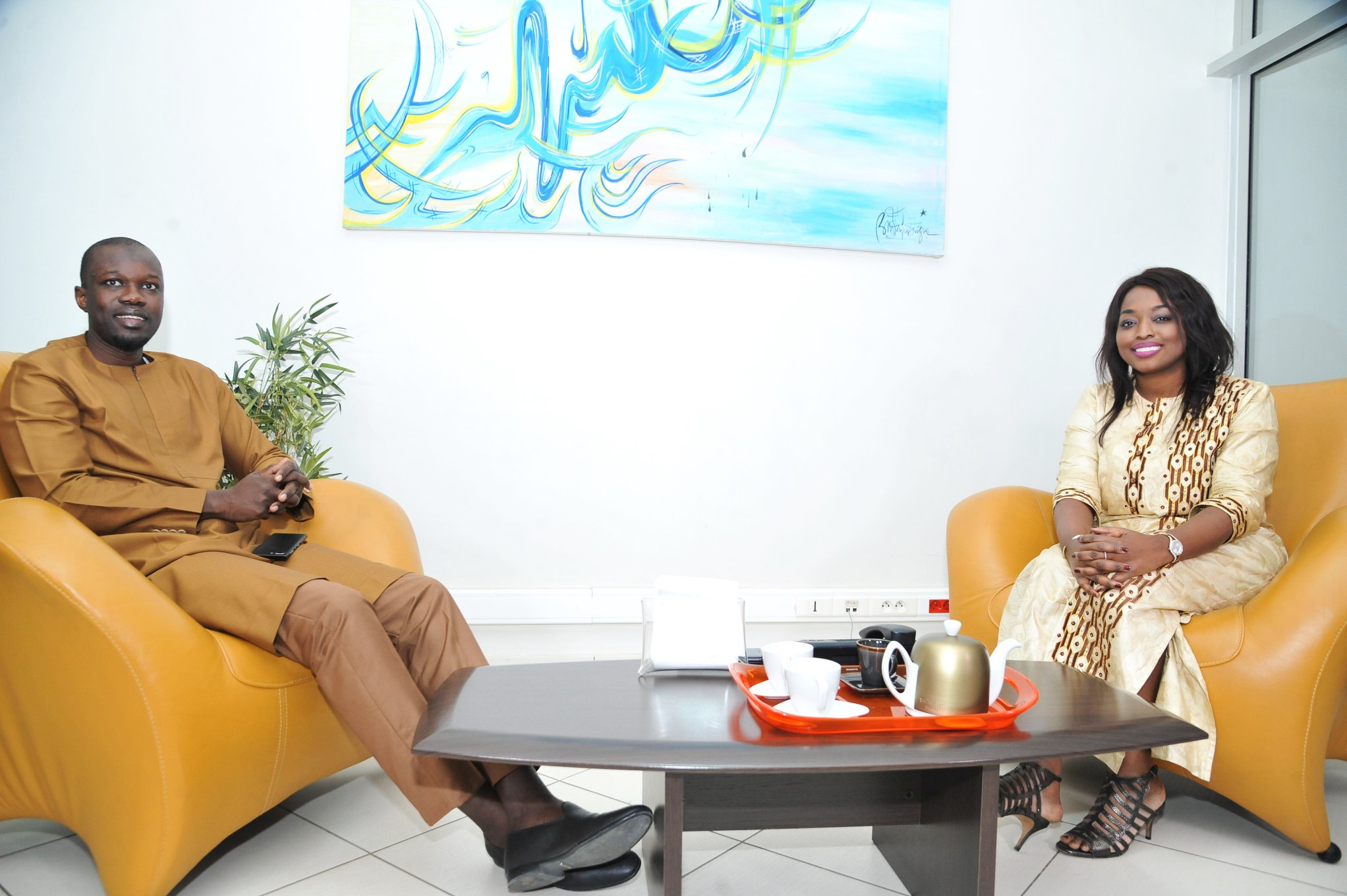 Ousmane Sonko rencontre Amy Sarr Fall de Intelligence Magazine (6)