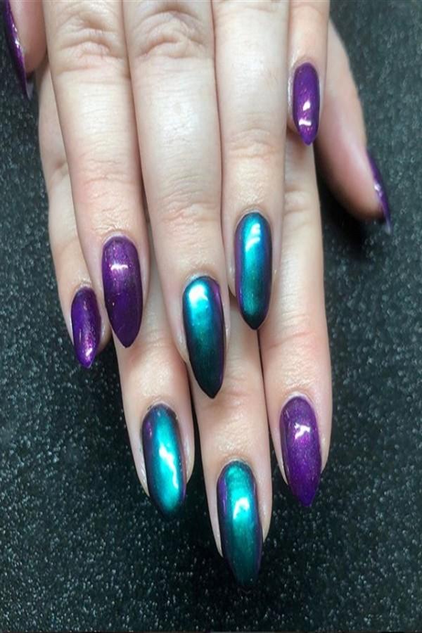 25+ Perfect Short Stiletto Nail Art Designs #short_nail_art #stiletto_nails #nail_art_designs