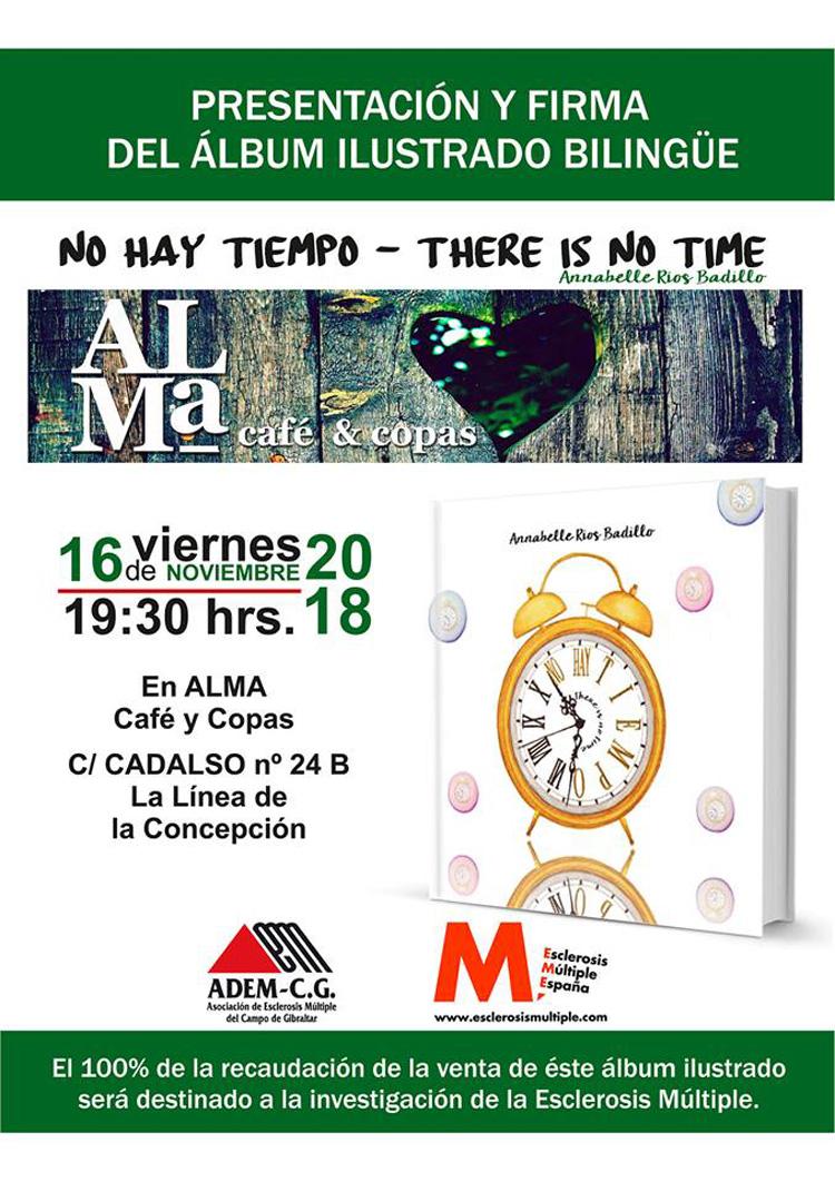 """Presentación y firma del libro """"No Hay Tiempo"""" de Annabelle Rios, en Alma Café & Copas"""