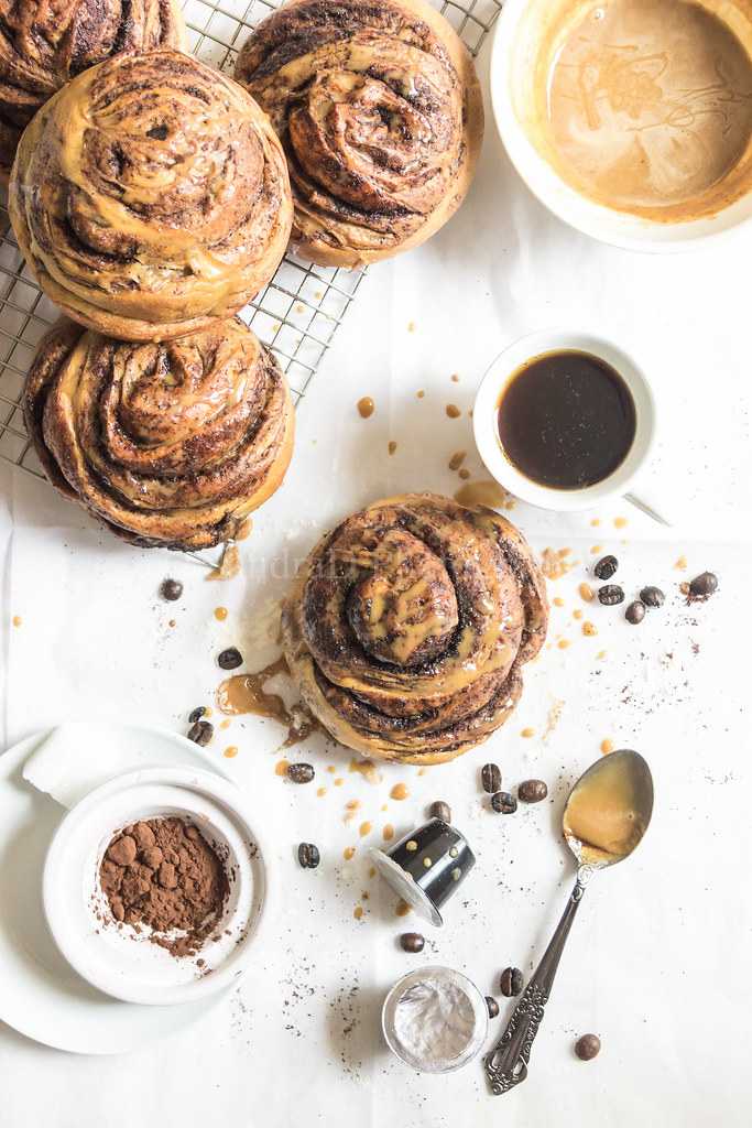 Mocha Rolls with an Espresso Glaze