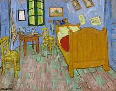 The Bedroom (1889) by Vincent Van Gogh. Original from the Art Institute of Chicago. Digitally enhanced by rawpixel.