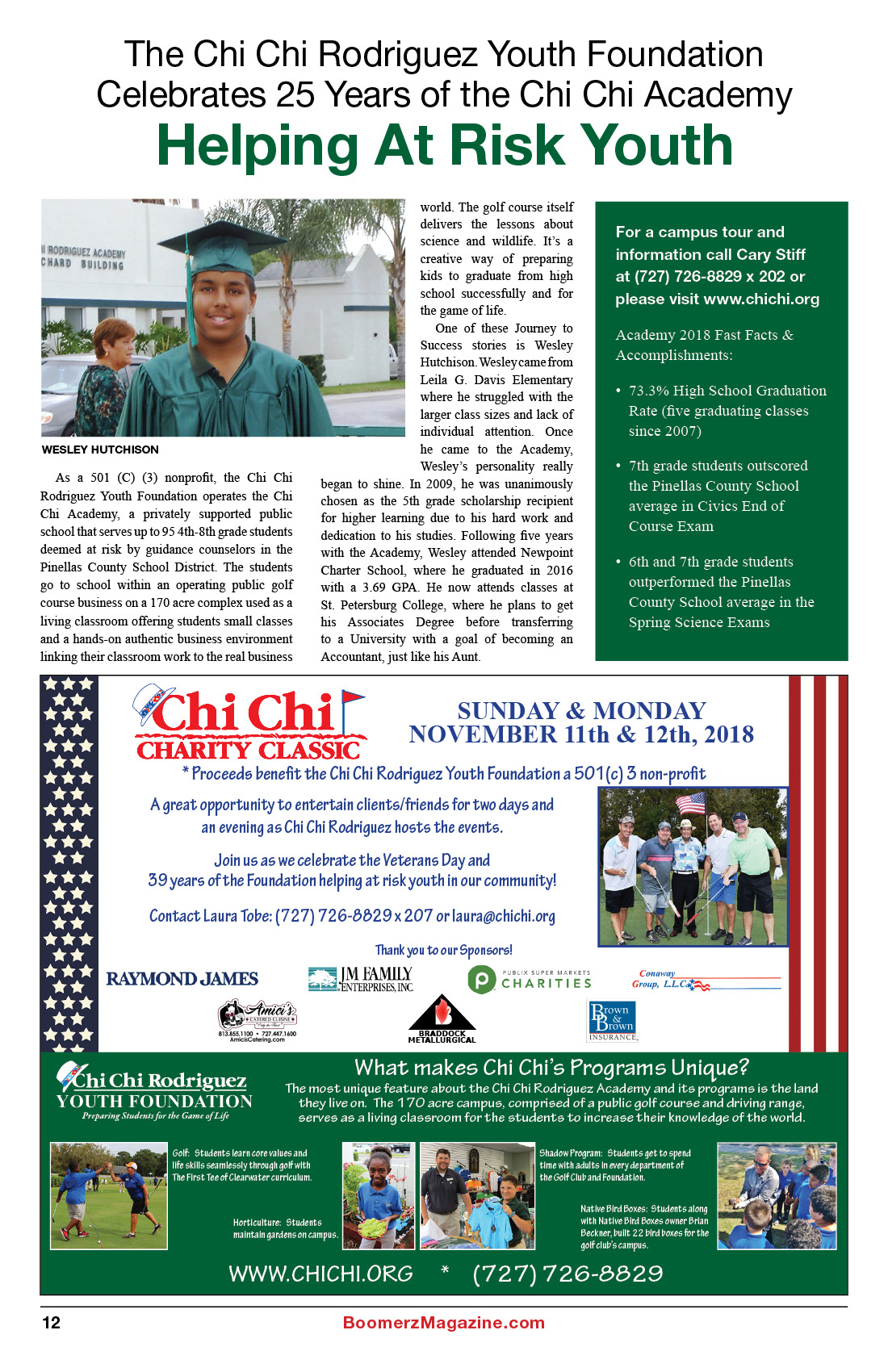 2018 October Boomerz Magazine Page 12 Add for Chi Chi Rodriguez Youth Foundation