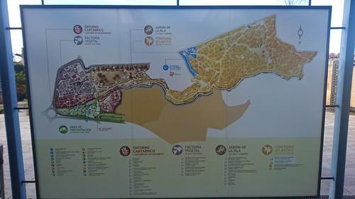 Mapa Xardín Botánico de Xixón