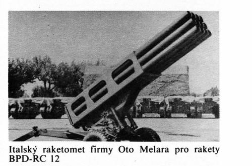 Italian Oto Melara BPD-RC12 MLRS