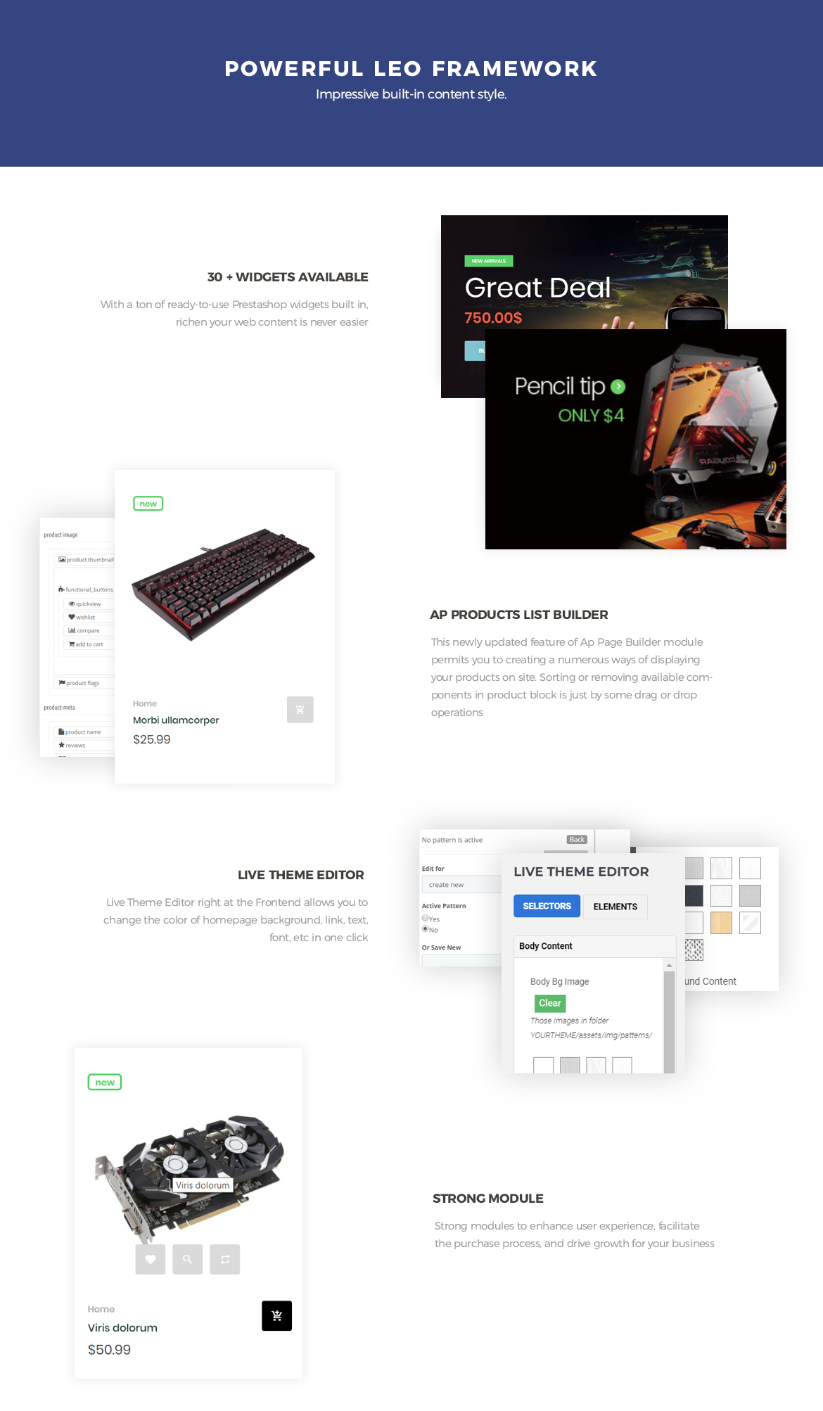 Powerful Leo Framework - Bos Atari Gaming Prestashop theme