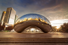 Sunrise at the Bean